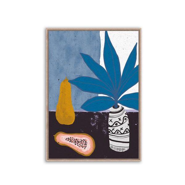 Πίνακας Καμβά Σε Κορνίζα Μπλε 'Pumpkin' 60x90 | ZAROS