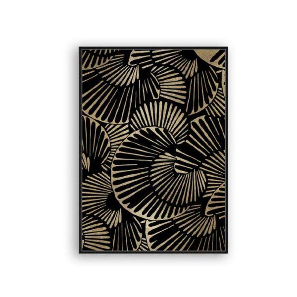 Πίνακας Καμβά Σε Κορνίζα Μάυρο/ Χρυσό 'Mix n' Match' 60x90   ZAROS