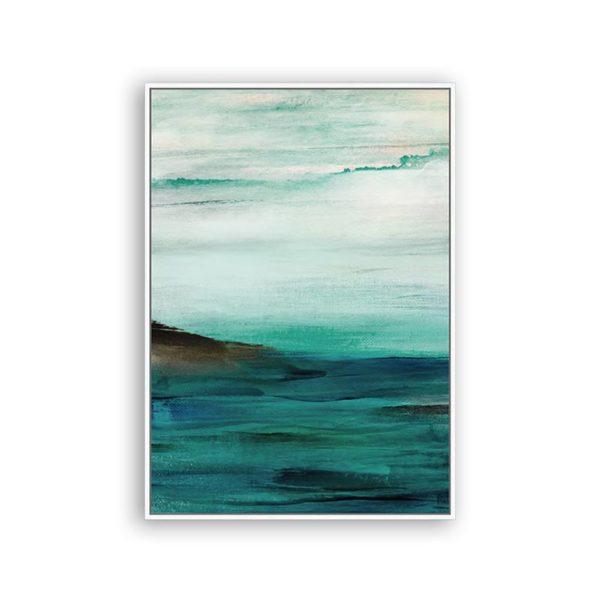 Πίνακας Καμβά Σε Κορνίζα Πετρόλ 'Endless Sea' 60x90 | ZAROS