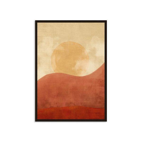 Πίνακας Καμβά Σε Κορνίζα Πορτοκαλί 'Sunset Africa' 60x90 | ZAROS