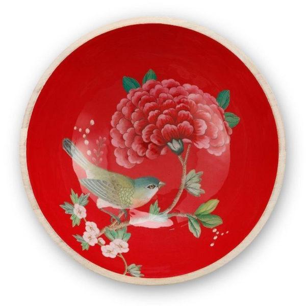 PIP Κουπ Ξύλο/ Σμάλτο 'Blushing Birds' Κόκκινο Δ28