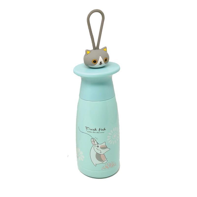 Μεταλλικό Μπουκάλι Θέρμος Από Ανοξείδωτο Ατσάλι Βεραμάν 'Kitty' 450ml