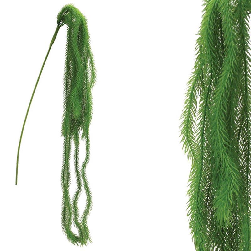 Τεχνητή Κρεμαστή Ρίζα Αρωκάρια Πράσινη Υ94-152cm