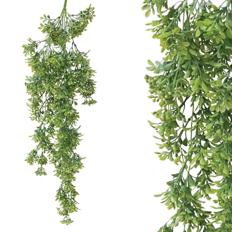 Τεχνητή Κρεμαστή Ρίζα Φυλλαράκι Πράσινο Υ75
