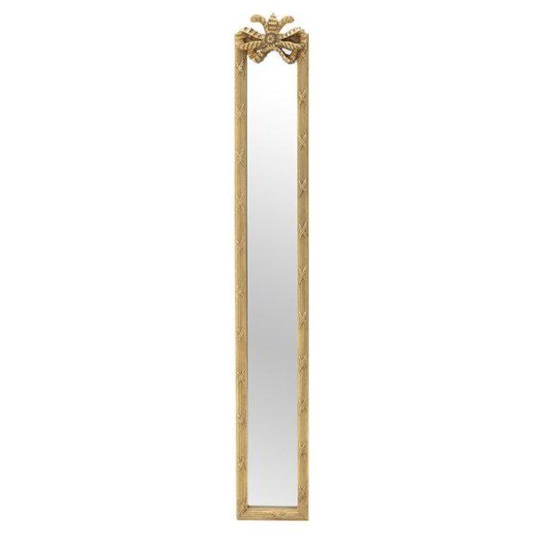 Επιτοίχιος Καθρέπτης Μακρόστενος Χρυσός 16.5x118, Inart
