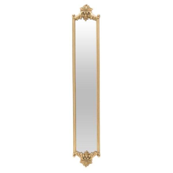 Επιτοίχιος Καθρέπτης Μακρόστενος Χρυσός 24x139, Inart