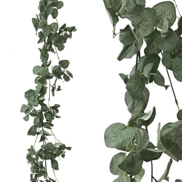 Τεχνητή Γιρλάντα Με Φύλλα Στρόγγυλα Ανοιχτό Πράσινο Y170