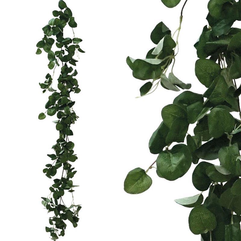 Τεχνητή Γιρλάντα Με Φύλλα Στρόγγυλα Πράσινο Y170