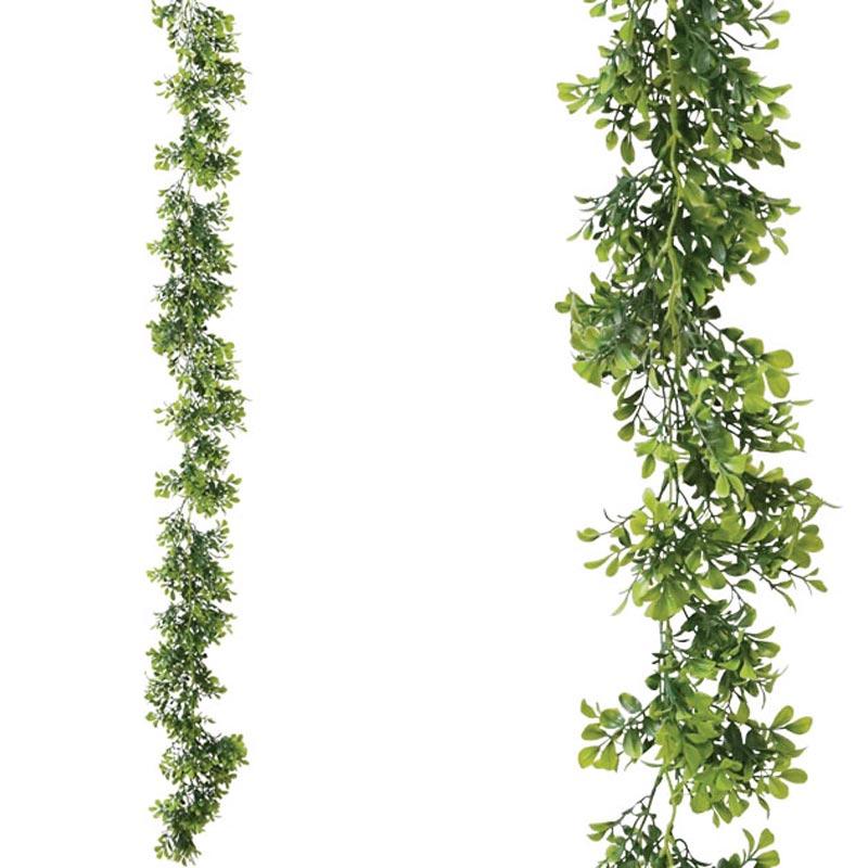 Τεχνητή Γιρλάντα Πράσινη Στρόγγυλο Φυλλαράκι Y155