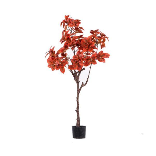 Τεχνητό Φυτό Φίκος Κόκκινος Σε Γλάστρα Υ145