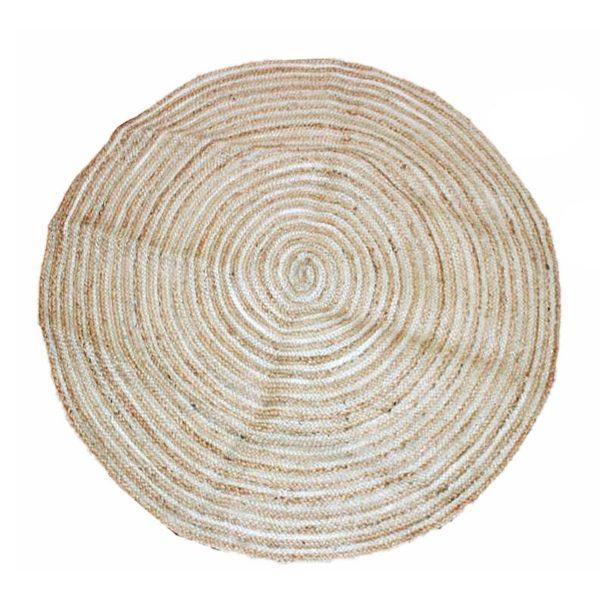 Χαλί Στρογγυλό Μπεζ 'Spiral' Δ120 | ZAROS