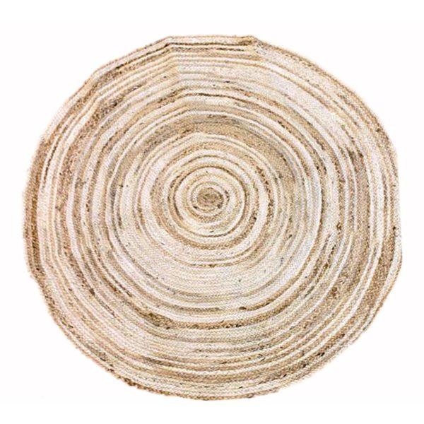 Χαλί Στρογγυλό Εκρού/ Μπεζ 'Spiral' Δ120 | ZAROS