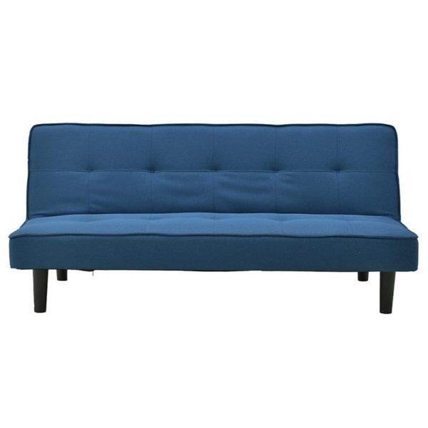 Καναπές/ Κρεβάτι Υφασμάτινο Μπλε 179x85x79, Inart