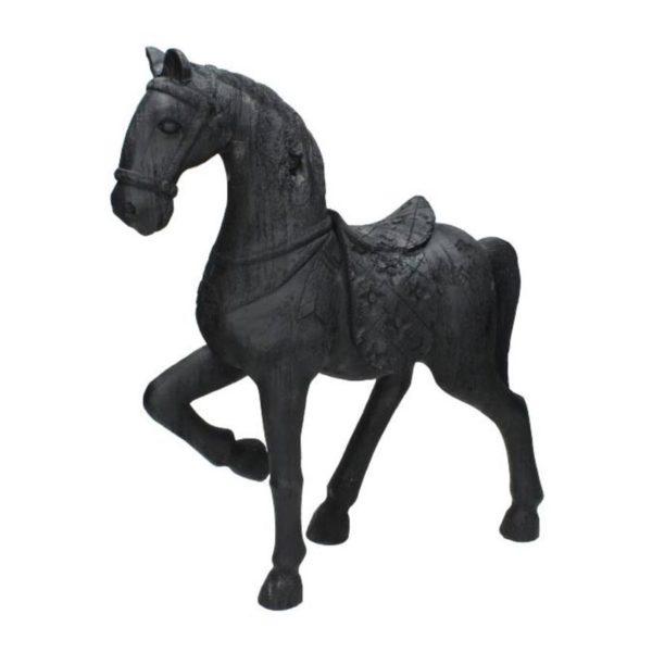 Διακοσμητικό Άλογο Μαύρο 48.5x12.5x44.5 | ZAROS