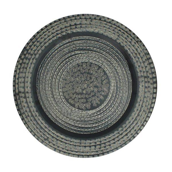 Διακοσμητικός Δίσκος Αλουμινίου Σφυρήλατος Ανθρακί Δ48 | ZAROS