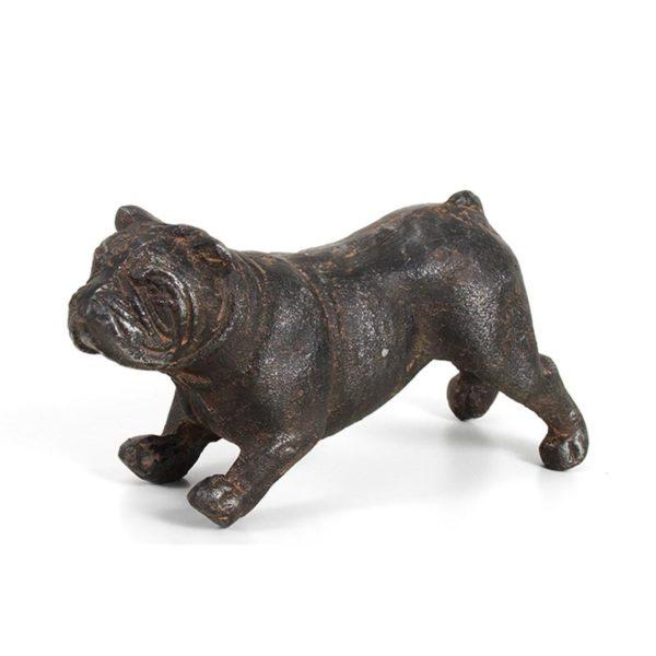 Διακοσμητικός Σκύλος Καφέ 'Μπουλντόγκ' 6x17.5x9 | ZAROS