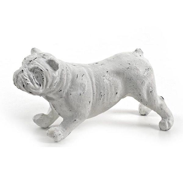 Διακοσμητικός Σκύλος Λευκό 'Μπουλντόγκ' 6x17.5x9 | ZAROS