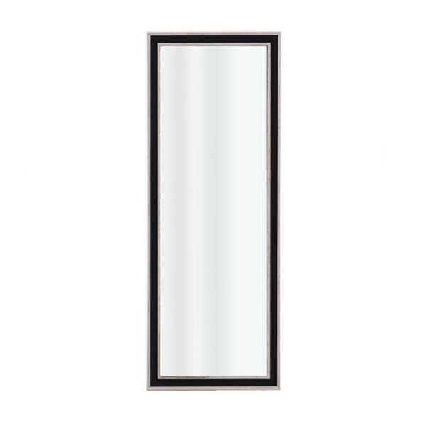 Επιτοίχιος Καθρέπτης Ορθογώνιος Μαύρος/ Σαμπανί 36.5x1.5x96.5