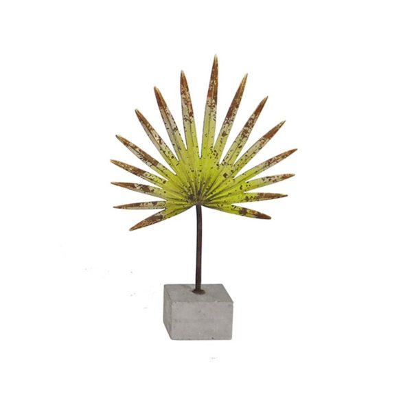 Επιτραπέζιο Διακοσμητικό Φύλλο Φοίνικα Κίτρινο Σε Βάση Υ46 | ZAROS