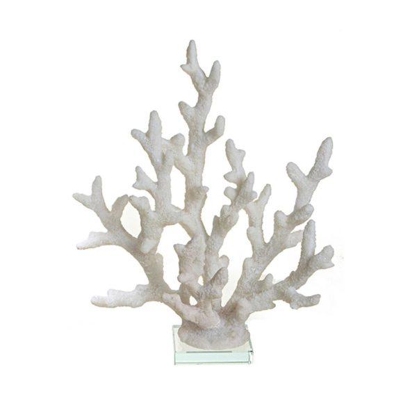 Επιτραπέζιο Διακοσμητικό Κοράλι Λευκό 21x24 | ZAROS