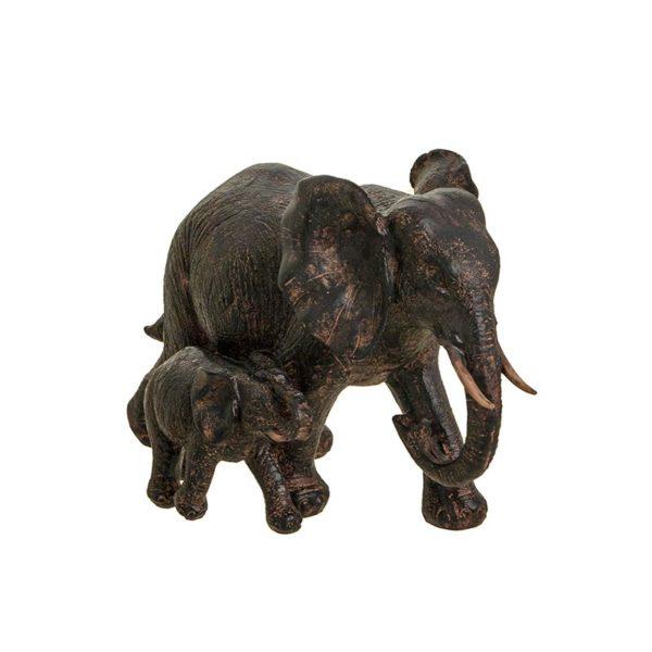 Επιτραπέζιο Διακοσμητικός Ελέφαντας 'Mom 'n' Child' 23x15 | ZAROS