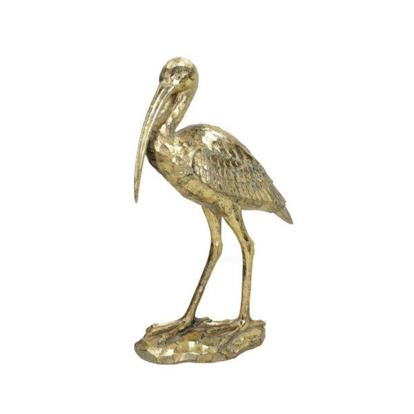 Επιτραπέζιο Διακοσμητικός Ερωδιός Χρυσό 26x40.5x10 | ZAROS