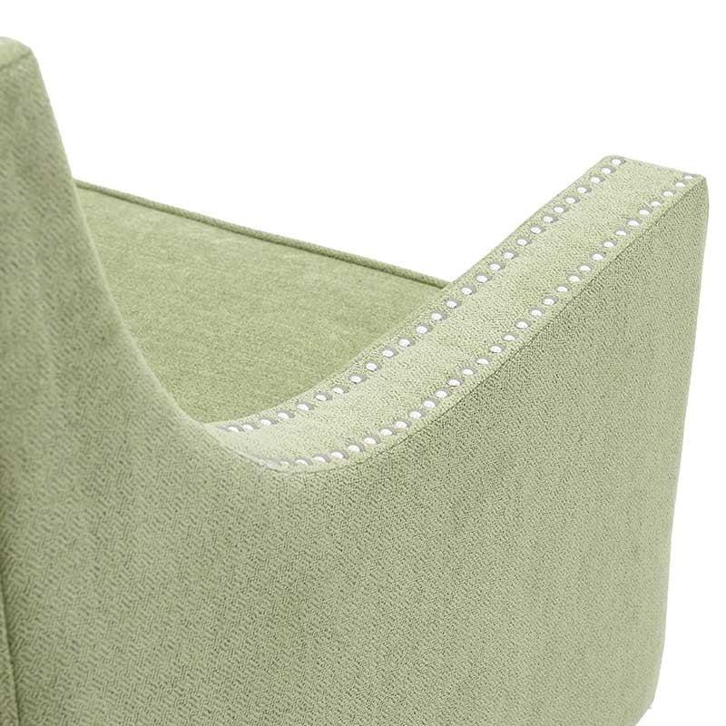 Καναπές Διθέσιος Υφασμάτινος Πράσινος Με Τρουκς 140x82x92/47, Inart