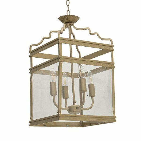 Φωτιστικό Οροφής 4φωτο Art Deco Μεταλλικό Χρυσό 30x30x53/120, Inart