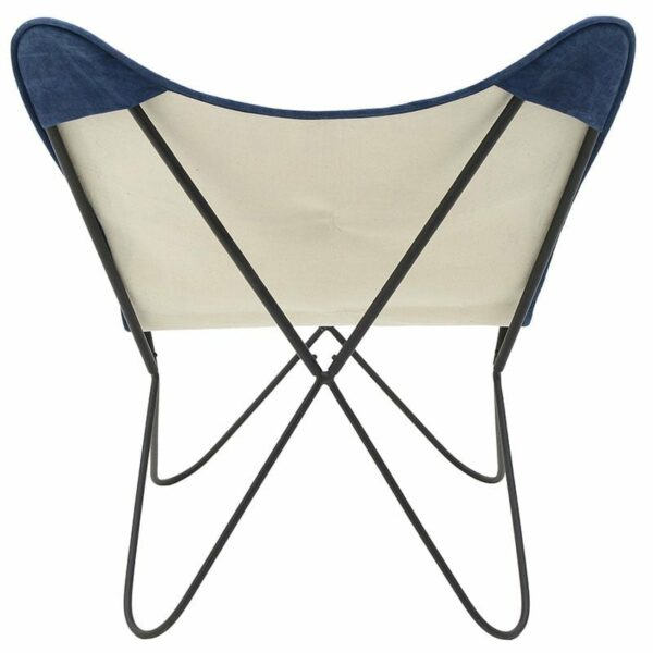 Καρέκλα Πεταλούδα Μεταλλική/ Υφασμάτινη 'Patchwork' 65x74x85/44, Inart