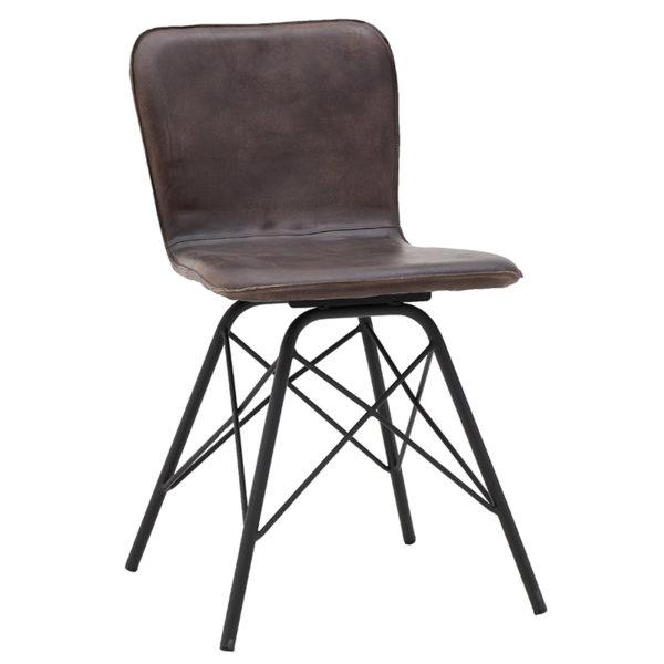 Μεταλλική/Δερμάτινη Καρέκλα