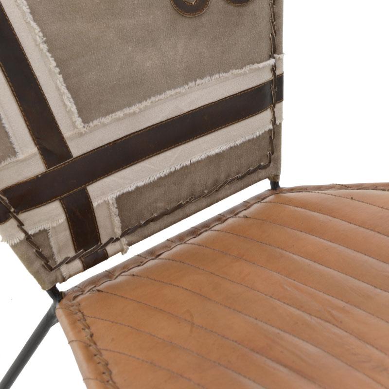 Πολυθρόνα Δερμάτινη/Καμβάς
