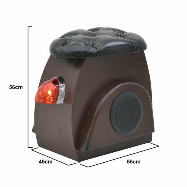 Σκαμπό 'Vespa' Με Φως/ Ηχείο Bluetooth Και Αποθηκευτικό Χώρο 45x55x56, Inart