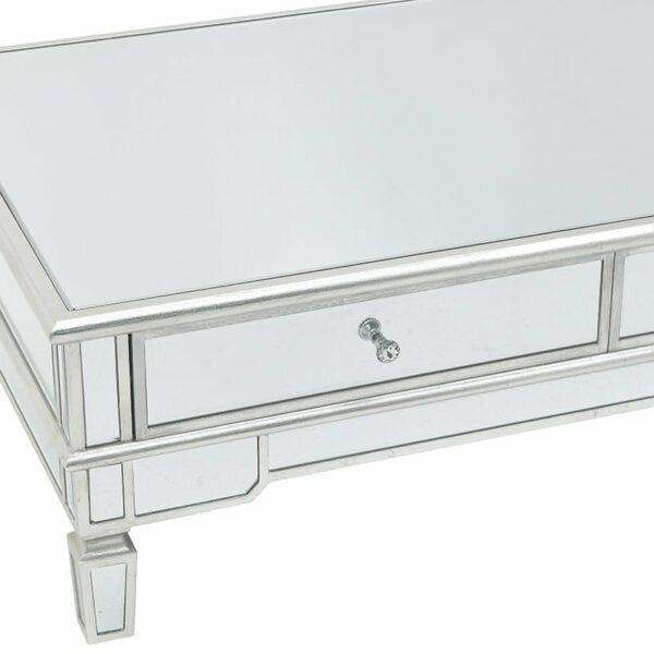 Τραπέζι Σαλονιού Ξύλινο Με Καθρέπτη Και Αποθηκευτικό Χώρο 120x70x40, Inart