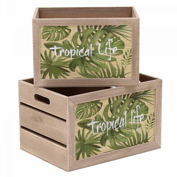 Ξύλινο Κουτί Σετ Των 2
