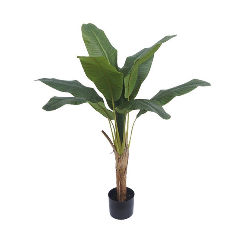 Τεχνητό Δέντρο Μπανανιά 10φ Πράσινη Σε Γλάστρα Υ125