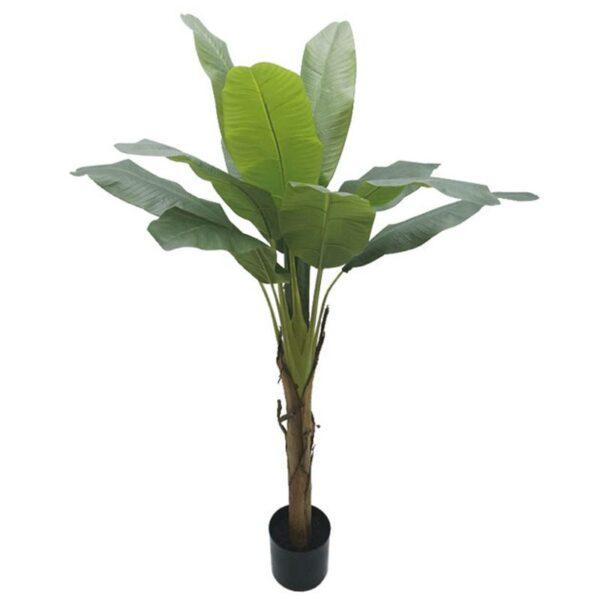 Τεχνητό Δέντρο Μπανανιά 13φ Πράσινη Σε Γλάστρα Υ155