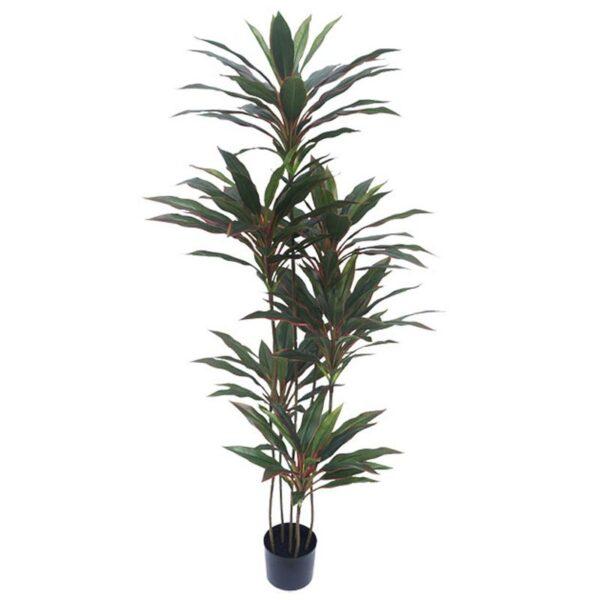 Τεχνητό Δέντρο Δράκαινα Κόκκινο/ Πράσινο Σε Γλάστρα Υ150