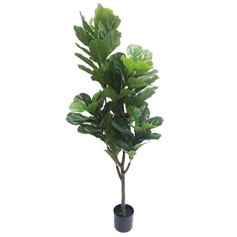 Τεχνητό Δέντρο Φύκος Λυράτα Πράσινο 96φ Real Touch Σε Γλάστρα Υ174