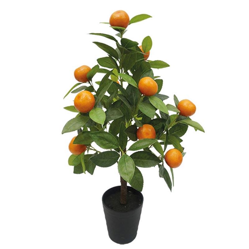 Τεχνητό Δέντρο Πορτοκαλιά Πράσινο/ Πορτοκαλί Real Touch Σε Γλάστρα Υ75