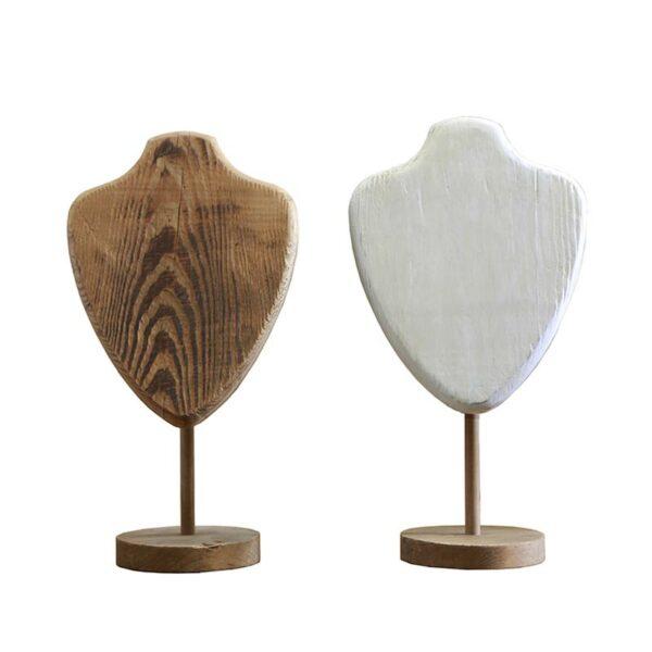 Μπούστο/ Κοσμηματοθήκη Ξύλινη Natural/ Εκρού Υ46, Σε 2 Σχέδια Σχέδια | ZAROS