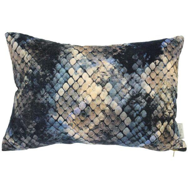 Διακοσμητικό Μαξιλάρι Βελούδινο Μπλε/ Χρυσό 'Snake' 40x60 | ZAROS
