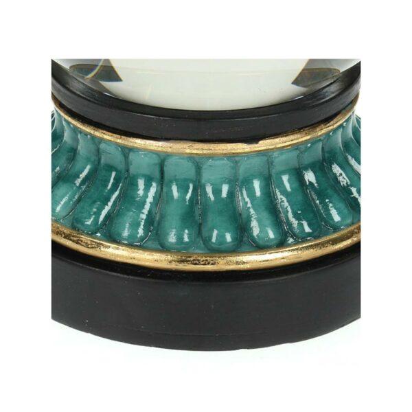 Επιτραπέζια Διακοσμητική Μπάλα Γυάλινη Μπλε/ Μαύρο/ Χρυσό Λεοπάρδαλη 10x23 | ZAROS