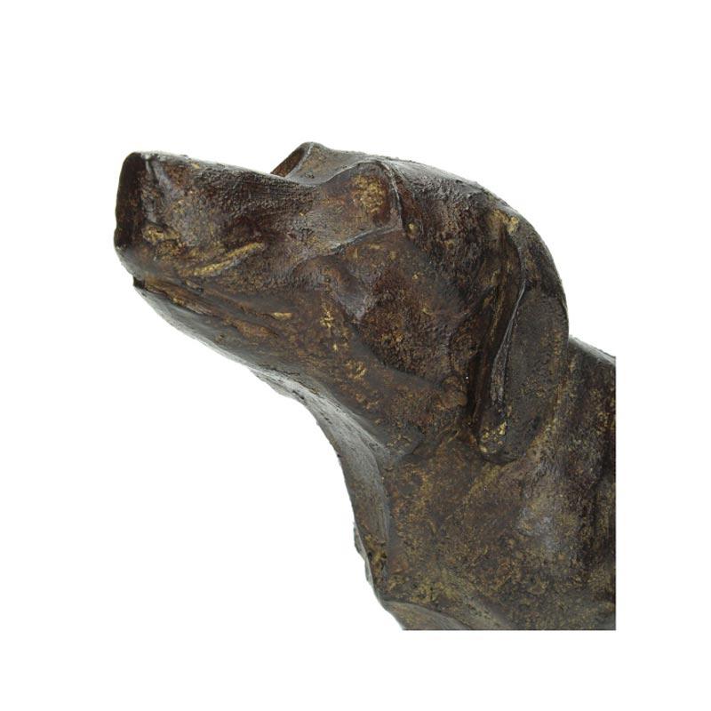 Επιτραπέζιο Διακοσμητικό Σκύλος Με Παλαίωση Καφέ 31x8x17 | ZAROS