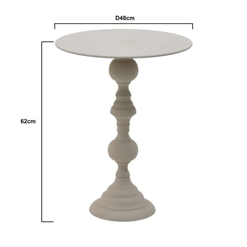 Τραπέζι Βοηθητικό Στρόγγυλο Μεταλλικό Γκρι 48x48x62, Inart