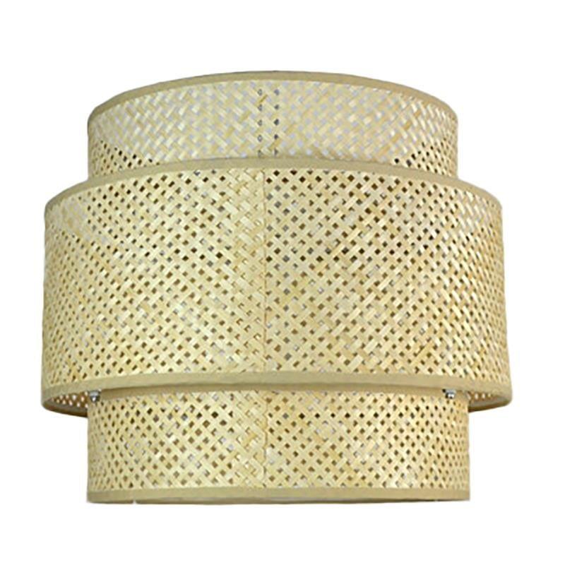Φωτιστικό Οροφής Μονόφωτο Rattan Natural 40x40x40cm, Inart