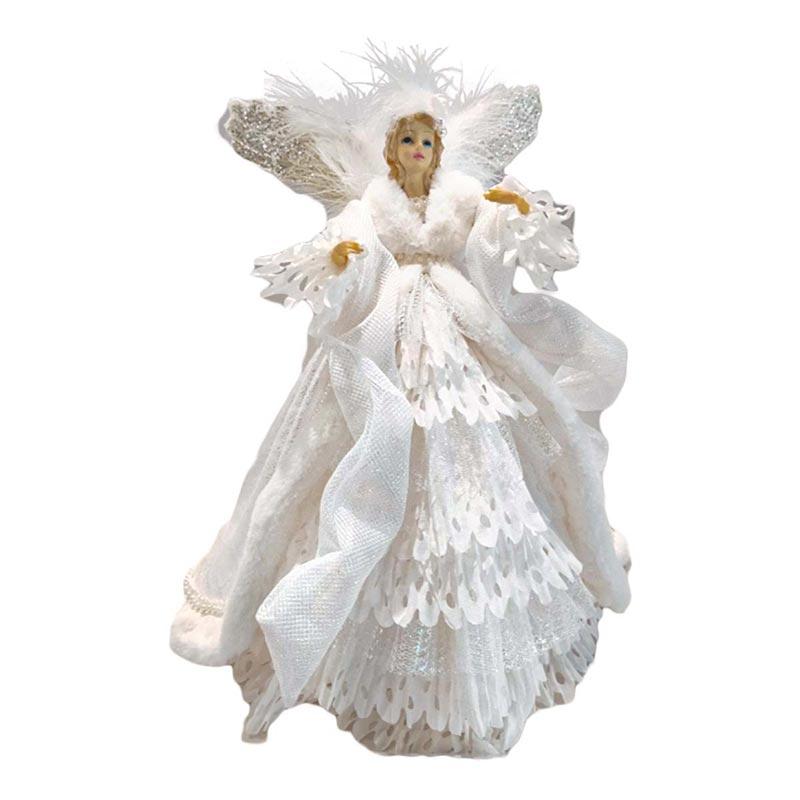 Διακοσμητική Κεραμική Κούκλα Άγγελος Λευκός Υ30cm