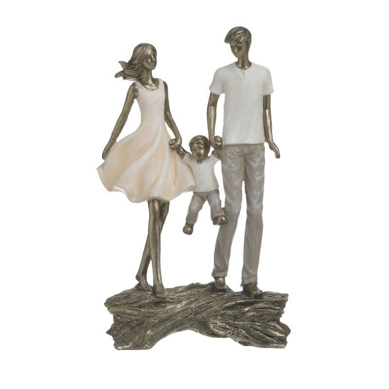 Επιτραπέζιο Διακοσμητικό Polyresin Μπρονζέ 'Happy Family' 13x8x28, Inart