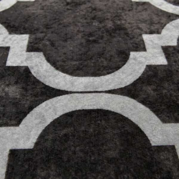 Χαλί Υφασμάτινο Μακρόστενο 'Black And White' 120x180, Inart