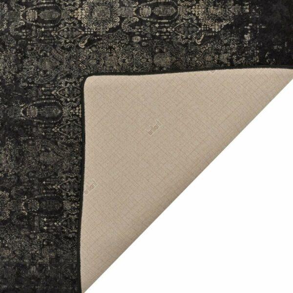 Χαλί Υφασμάτινο Μακρόστενο Μαύρο 120x180, Inart
