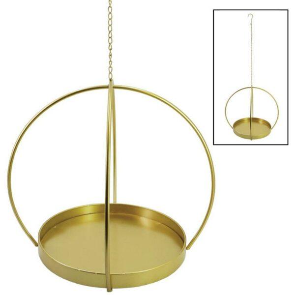 Διακοσμητικό Κρεμαστό Καλάθι Μεταλλικό Χρυσό 40x46x108cm